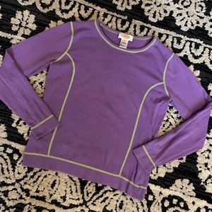 Talbots Purple & Lime Green Long Sleeved Top